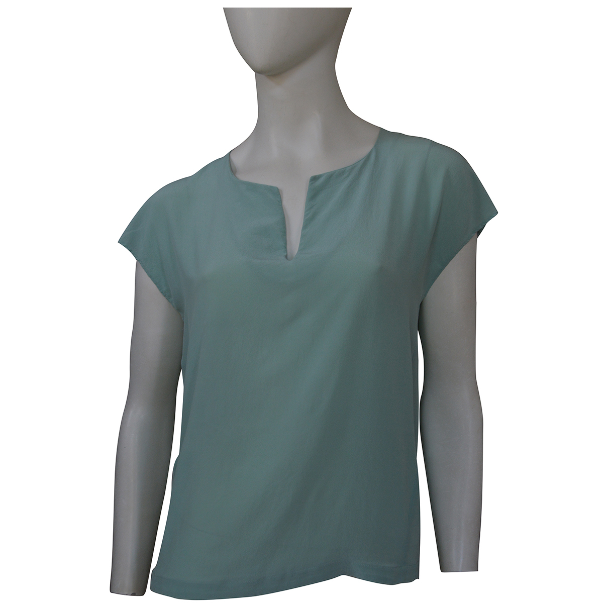 Comptoir Des Cotonniers \N Green Silk  top for Women 34 FR