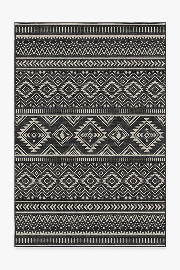 Washable Rug Cover | Arizona Black Rug | Stain-Resistant | Ruggable | 6'x9'