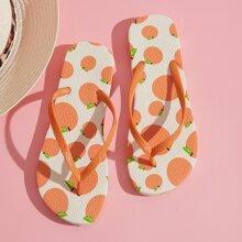 Flip Flops mit Orange Grafik