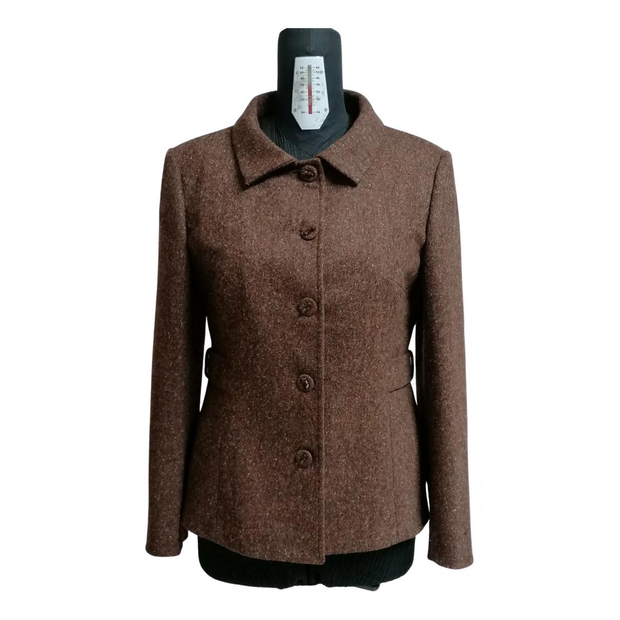 Blumarine - Manteau   pour femme en laine - marron