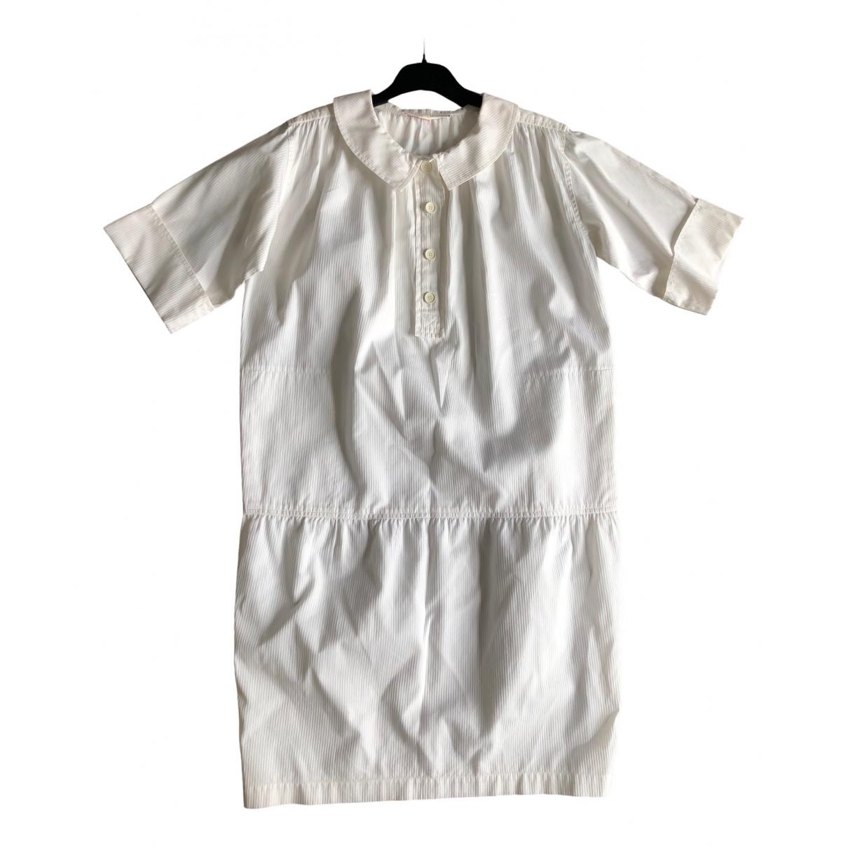 Yves Saint Laurent - Robe   pour femme en coton - blanc
