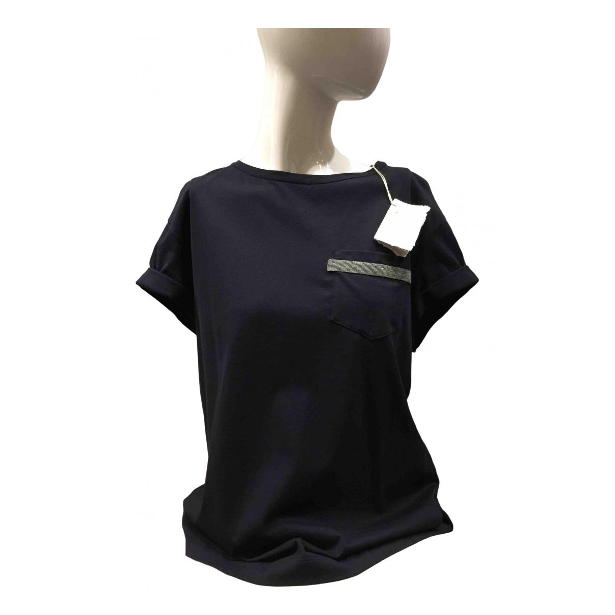Brunello Cucinelli - Top   pour femme en coton - bleu