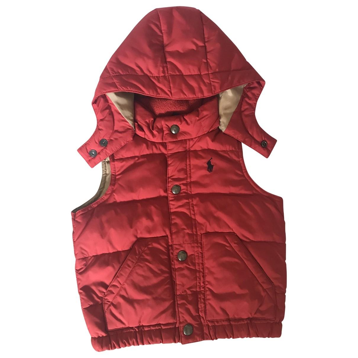 Polo Ralph Lauren \N Jacke, Maentel in  Rot Polyester