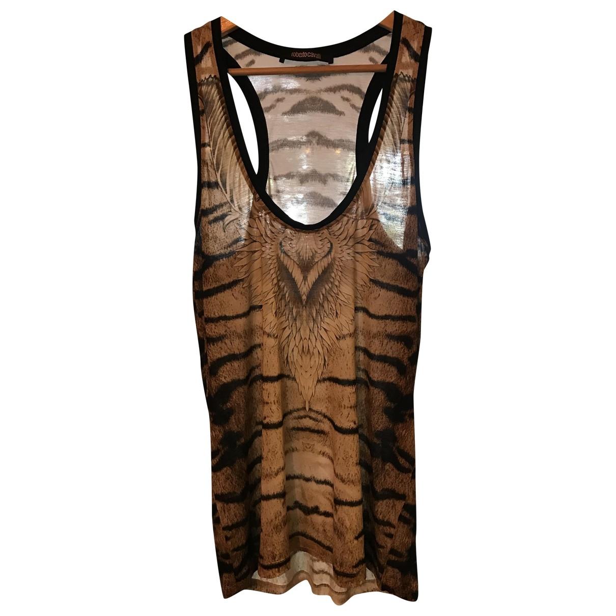 Roberto Cavalli \N Gold Silk  top for Women 40 IT
