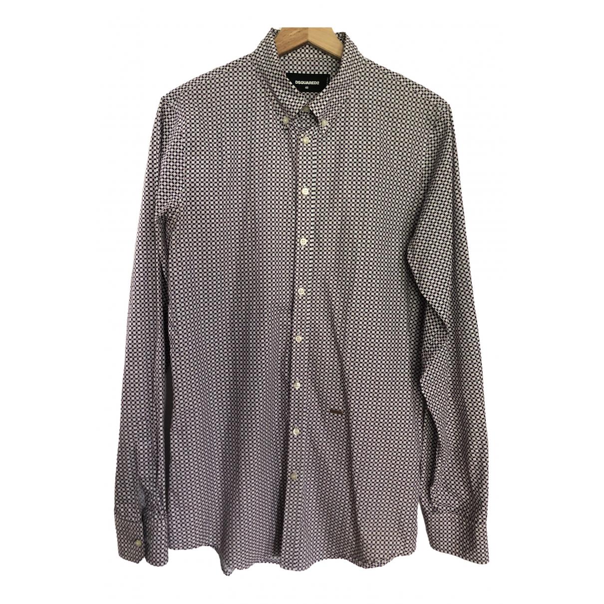 Dsquared2 - Chemises   pour homme en coton - violet