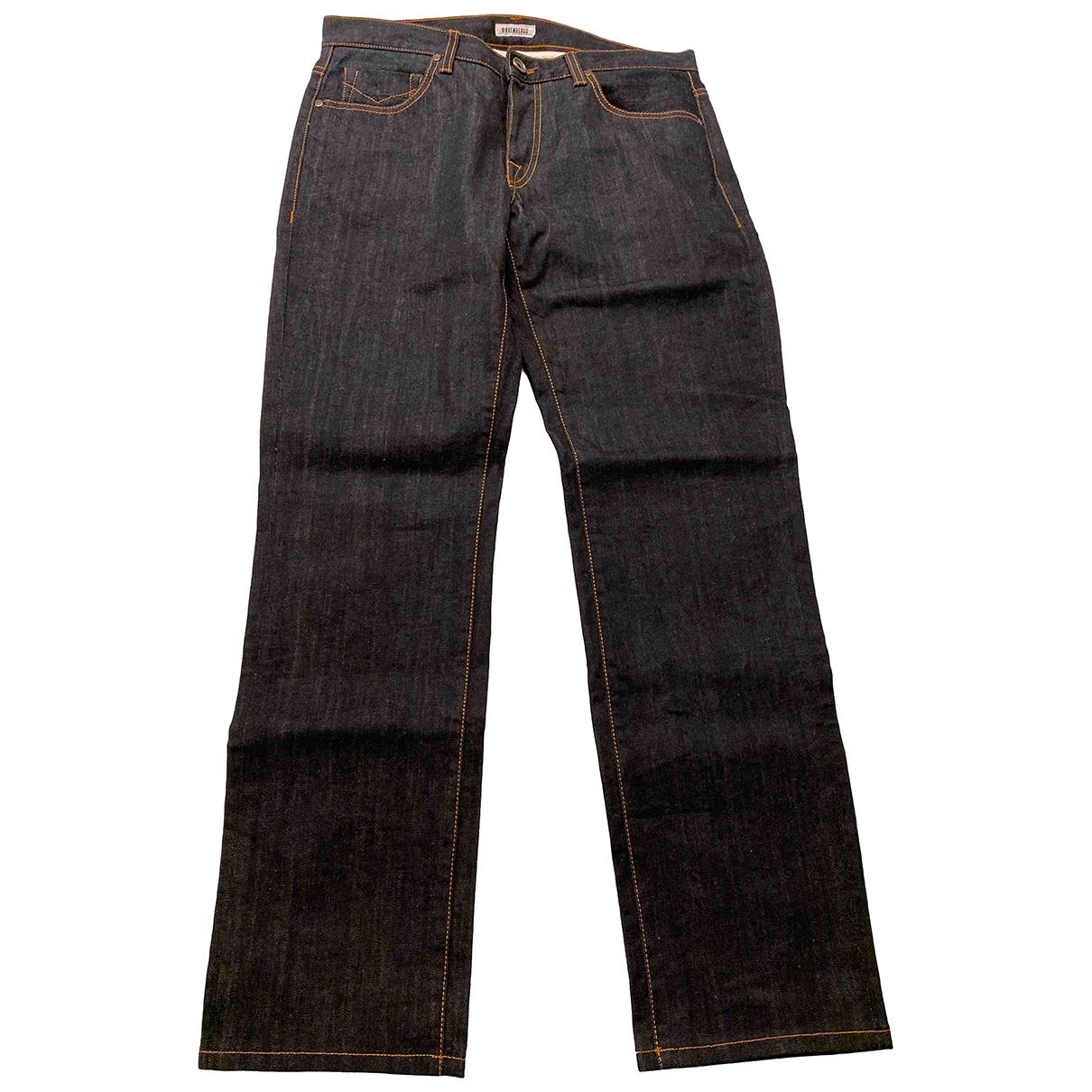 Dirk Bikkembergs \N Blue Cotton Jeans for Men 32 US