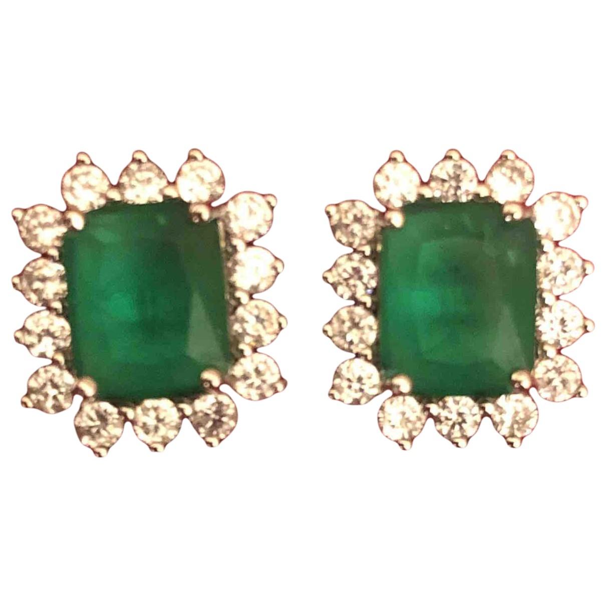 - Boucles doreilles Emeraude pour femme en metal - vert