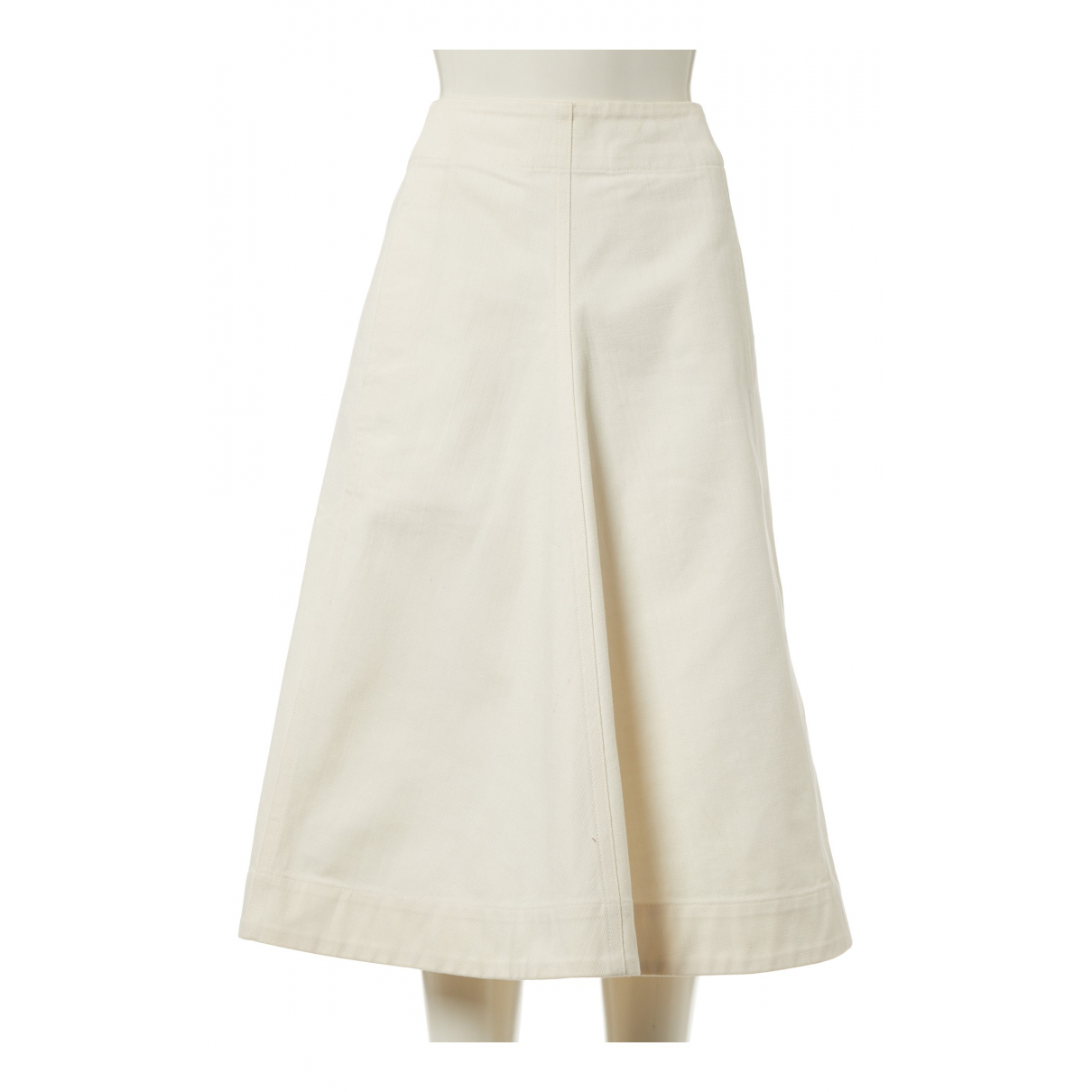 Lemaire \N Ecru Cotton skirt for Women 38 FR