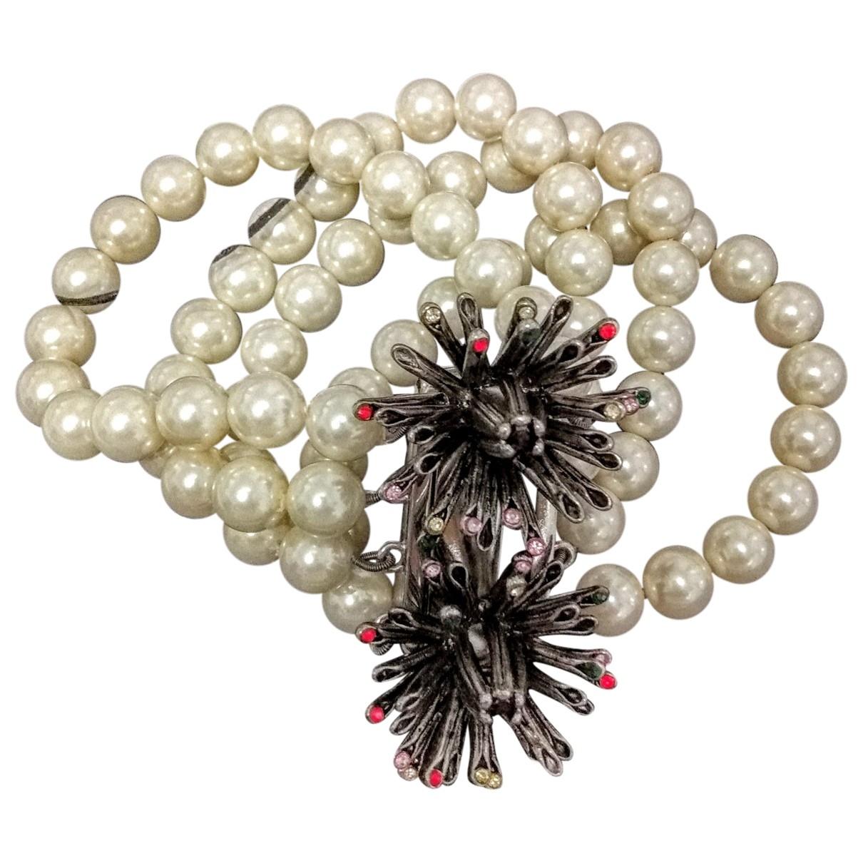 Bimba Y Lola \N Armband in  Weiss Perlen