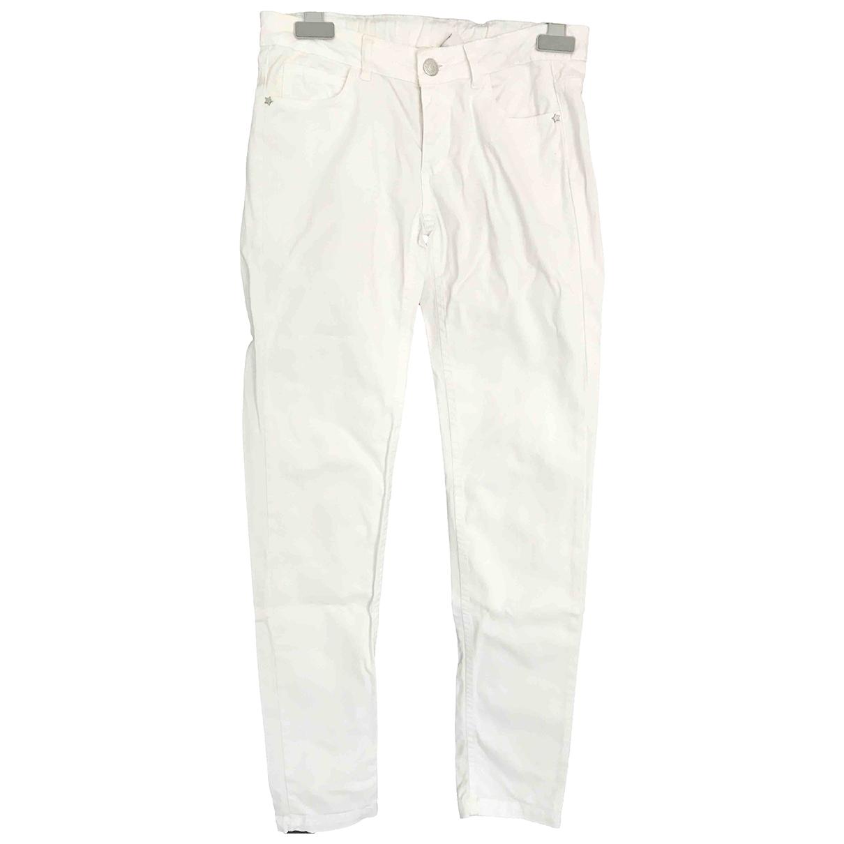 Zara - Pantalon   pour enfant en coton - blanc