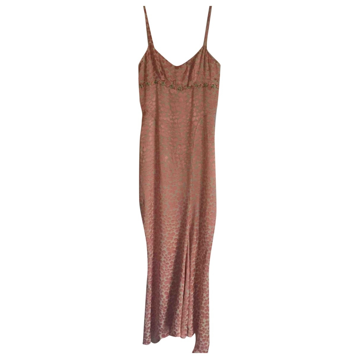 Non Signé / Unsigned \N Orange Silk dress for Women 36 FR