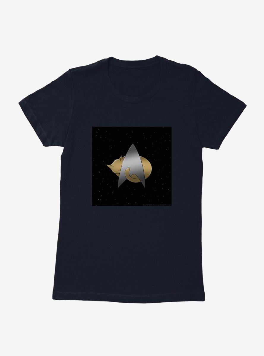 Star Trek The Next Generation Cats Logo Womens T-Shirt