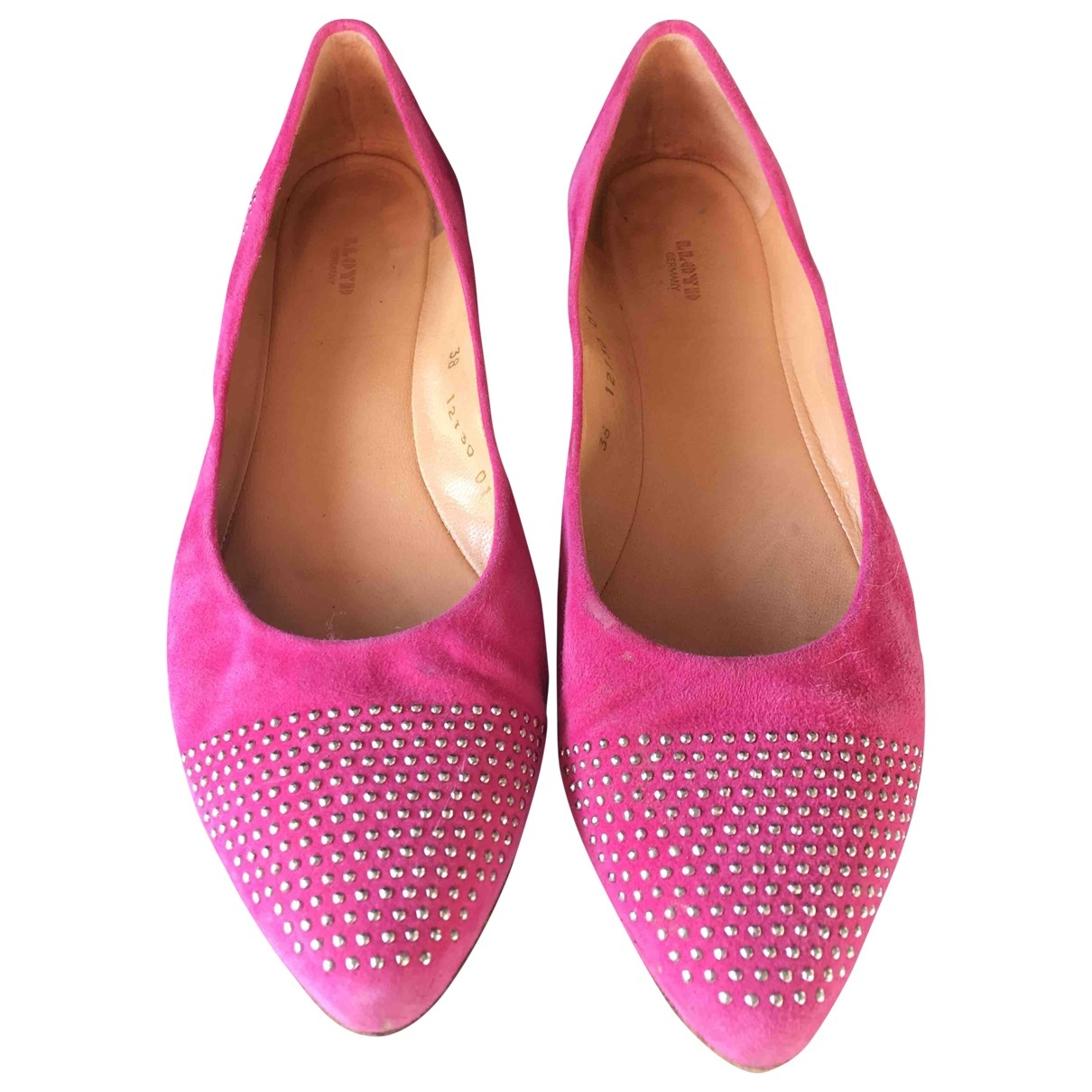 Non Signé / Unsigned \N Pink Leather Ballet flats for Women 38 EU