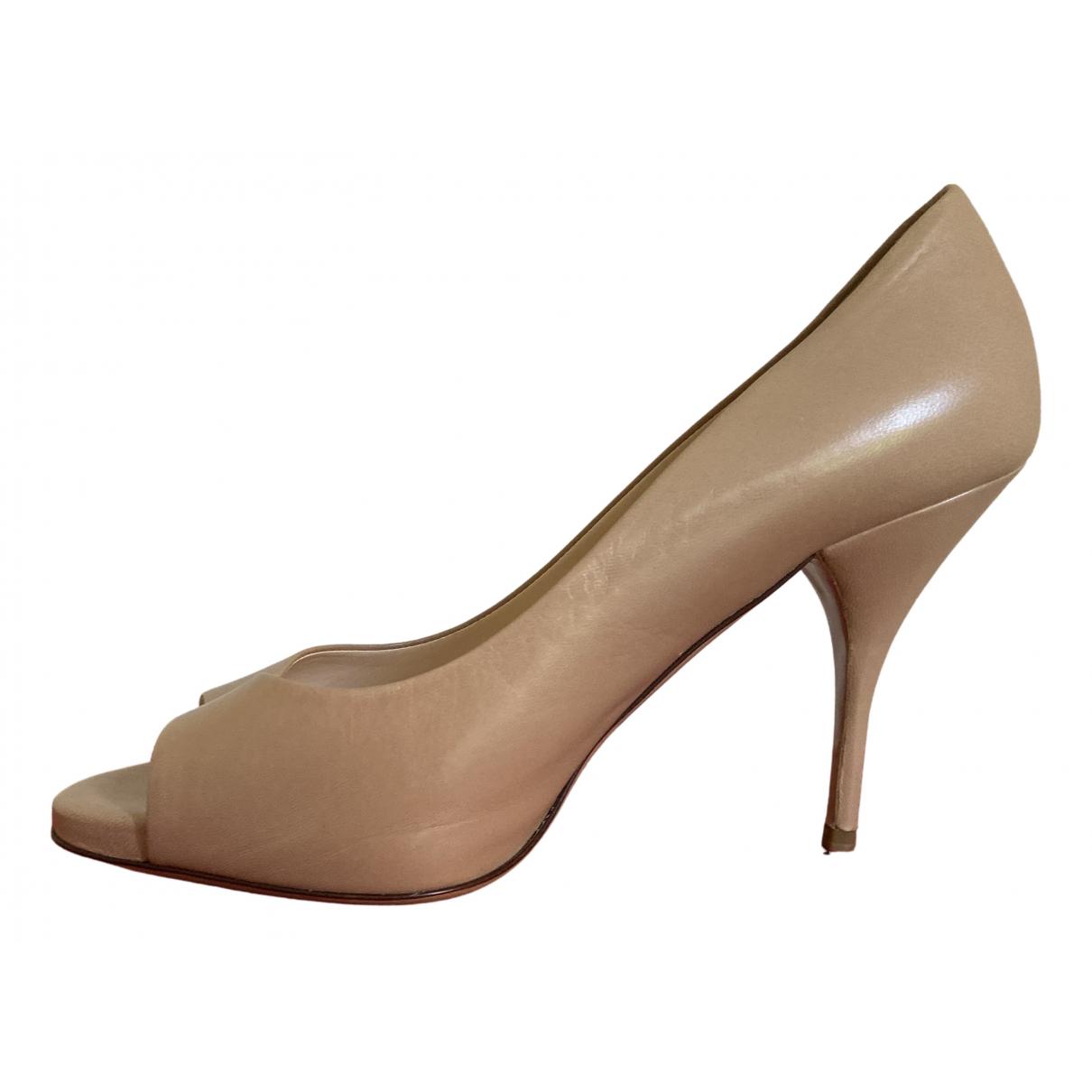 Valentino Garavani - Escarpins   pour femme en cuir - beige