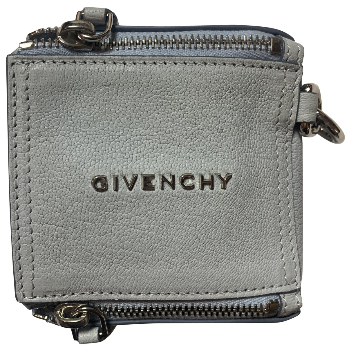 Givenchy - Pochette Pandora Box pour femme en cuir - bleu