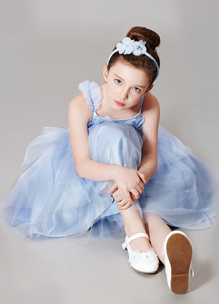 Milanoo Flower Girl Dress Champagne Princess Straps Tulle Flower Beading Toddler's Pageant Dress With Zipper Back