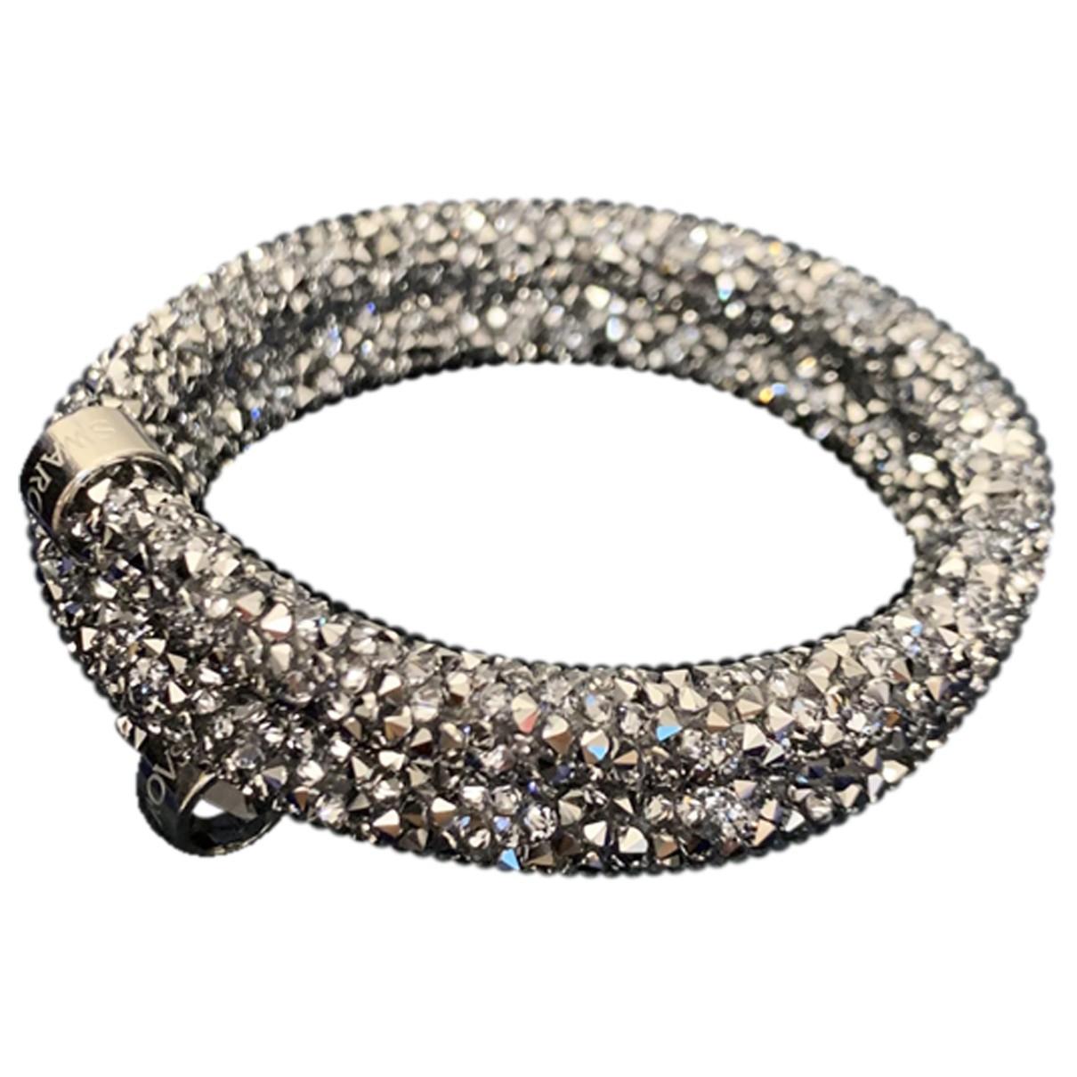 Swarovski \N Armband in  Schwarz Kristall