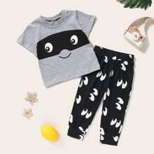 Toddler Boys Cartoon Graphic Tee With Sweatpants