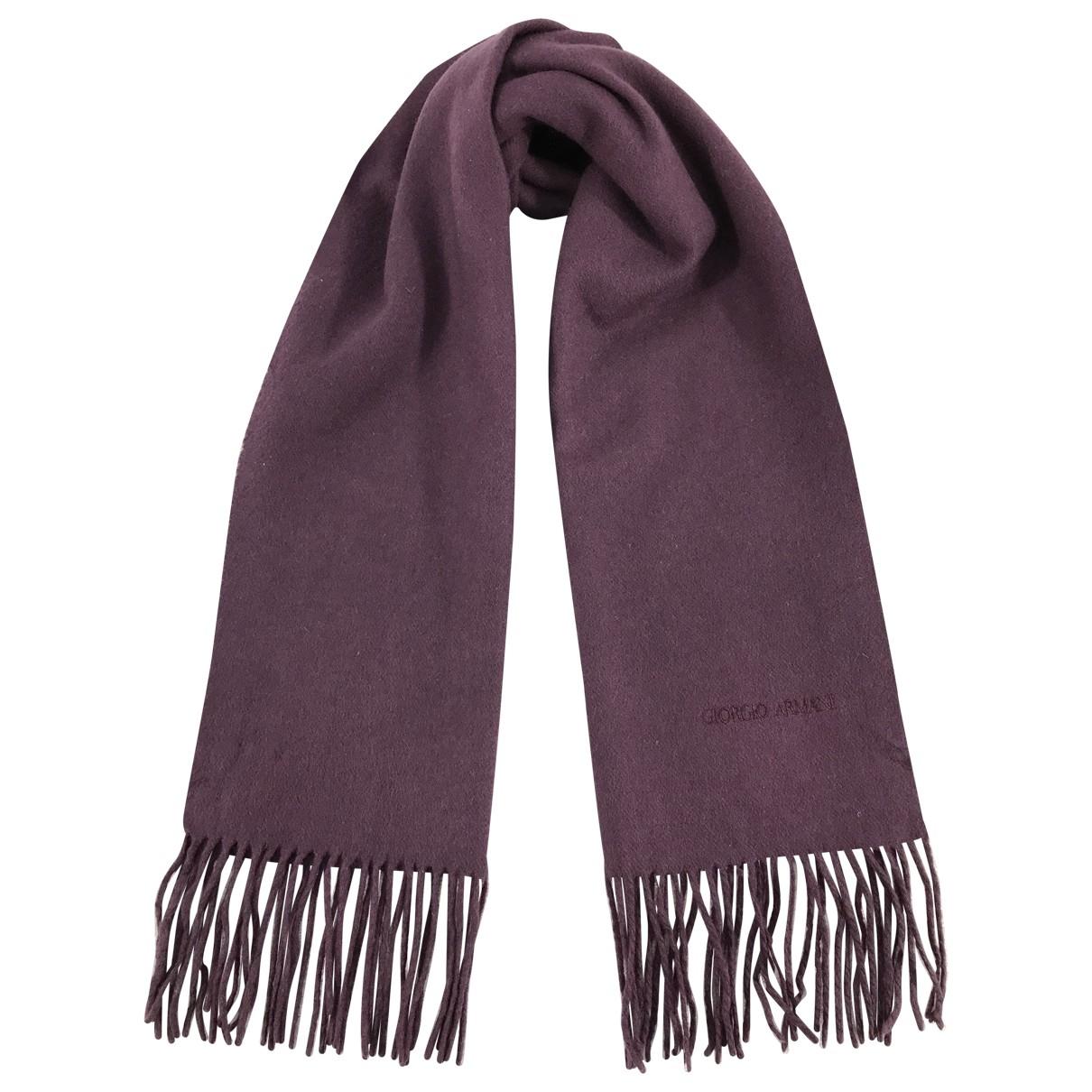 Armani Collezioni - Foulard   pour femme en laine - violet