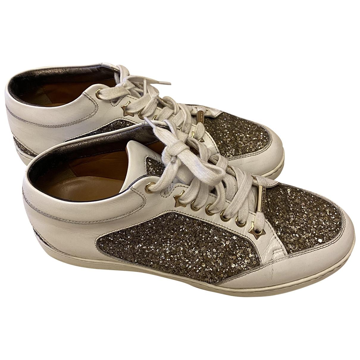 Jimmy Choo \N Sneakers in  Weiss Mit Pailletten