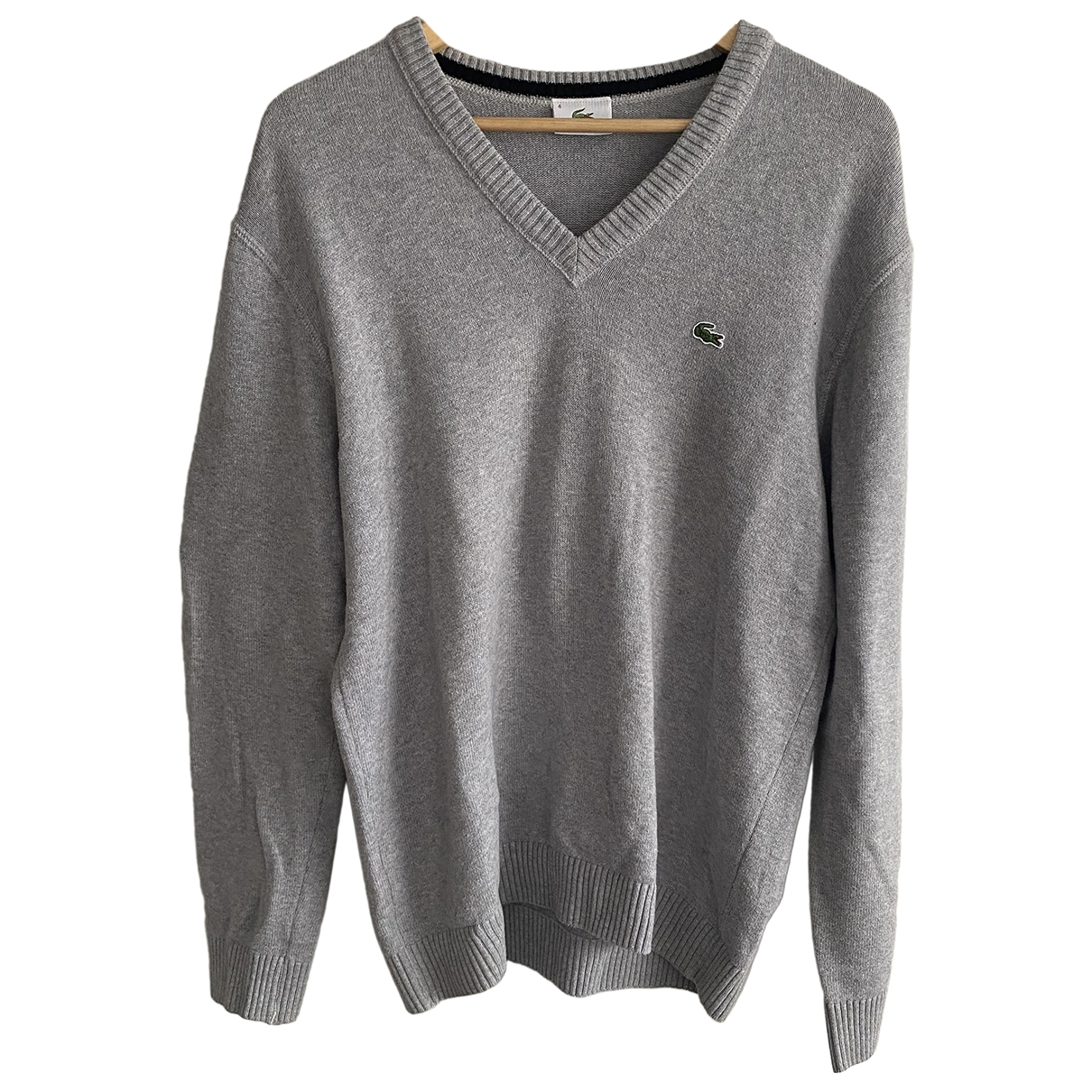 Lacoste \N Pullover.Westen.Sweatshirts  in  Grau Baumwolle