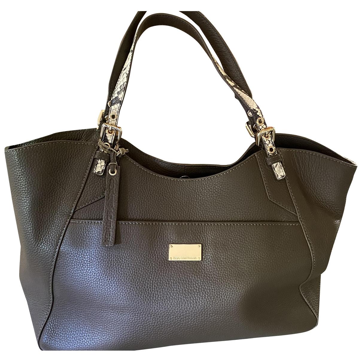 Non Signe / Unsigned \N Handtasche in  Khaki Leder