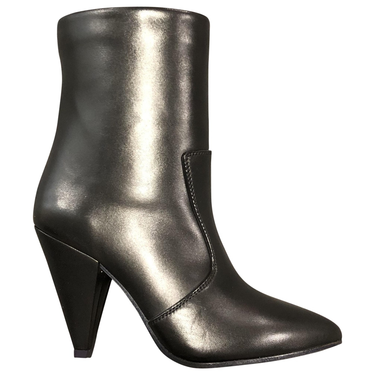 Stuart Weitzman \N Black Leather Ankle boots for Women 38 EU