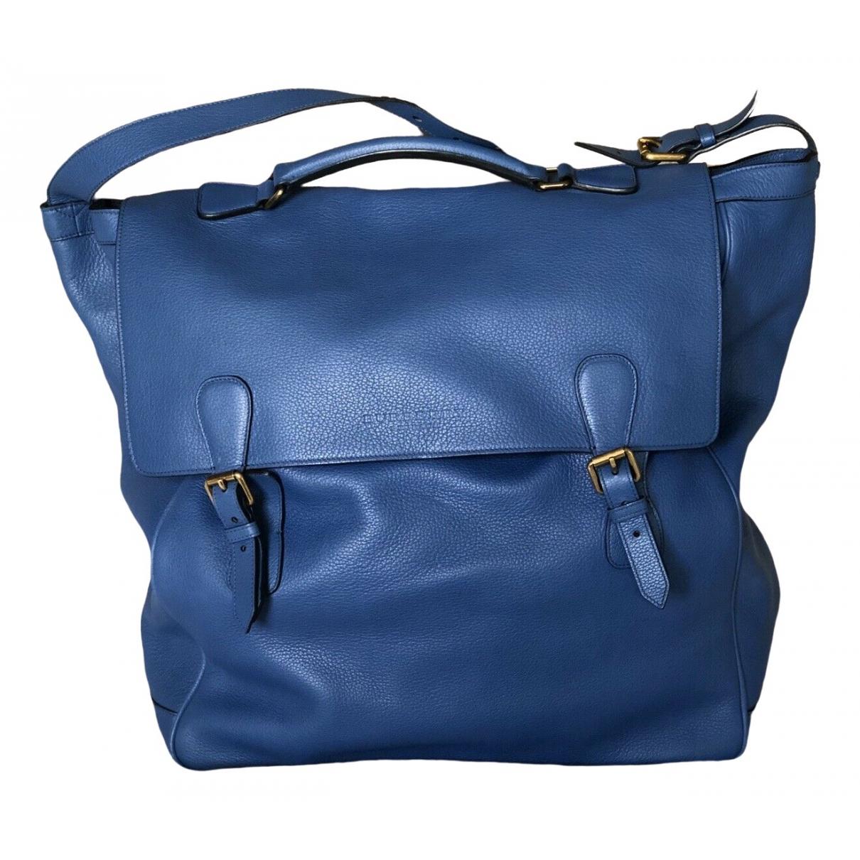 Burberry - Sac   pour homme en cuir - bleu