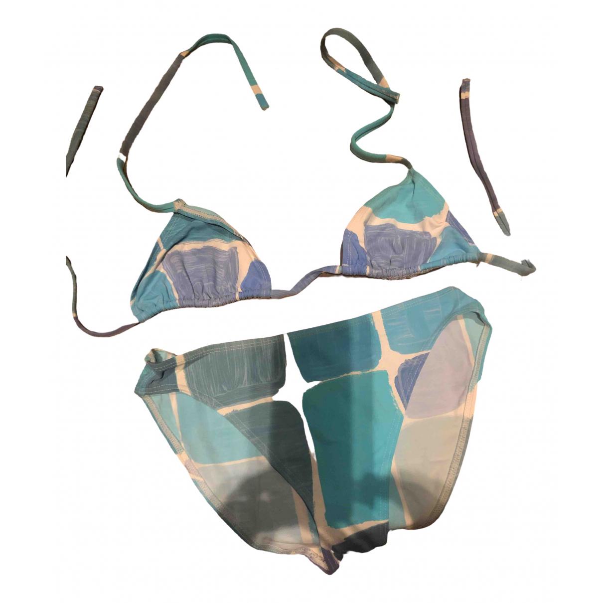 Eres \N Badeanzug in  Blau Baumwolle - Elasthan