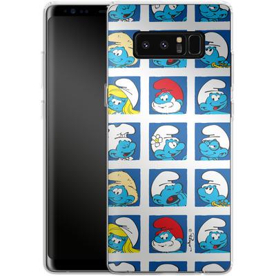 Samsung Galaxy Note 8 Silikon Handyhuelle - Smurf Squares von The Smurfs
