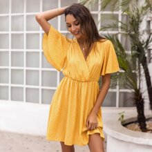 Vestidos todo estampado Mostaza Amarilla Bohemio