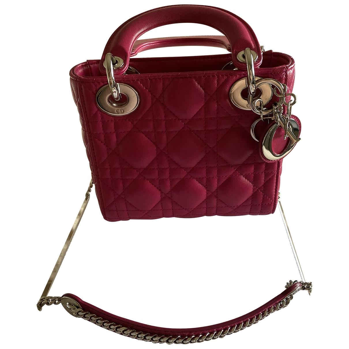 Dior Lady Dior Pink Leather handbag for Women \N