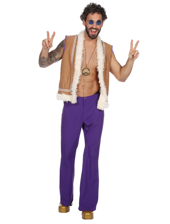 Herren-Kostuem Hippie Groovy Herren 2tlg. 60 Grosse: 58