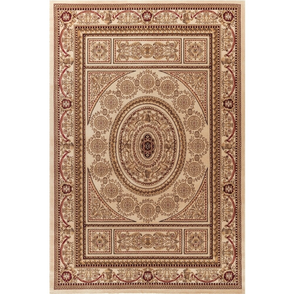 Concord Global Jewel Creuse Area Rug (Red/Ivory 67 x 91)