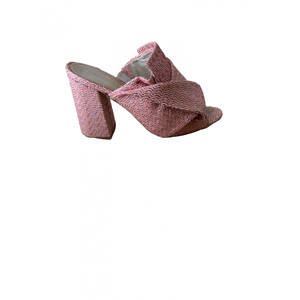 Non Signe / Unsigned \N Sandalen in  Rosa Tweed