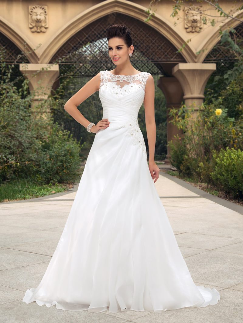 Ericdress Appliques Beading Garden Wedding Dress