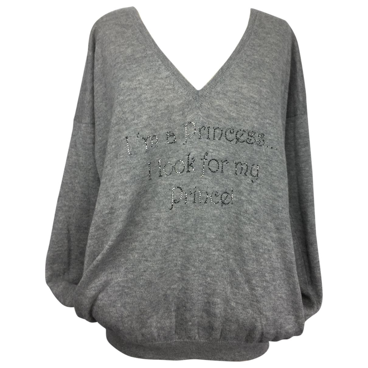 Pinko \N Pullover in  Grau Wolle