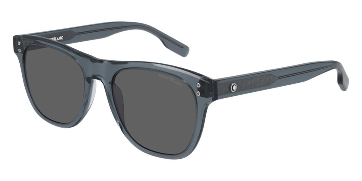 Mont Blanc MB0124S 004 Men's Sunglasses Blue Size 53