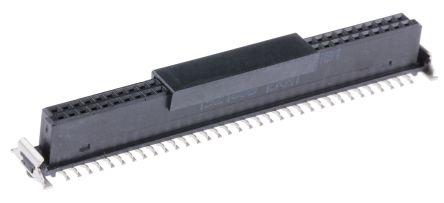 ERNI , SMC 1.27mm Pitch 68 Way 2 Row Straight PCB Socket, Surface Mount, Solder Termination