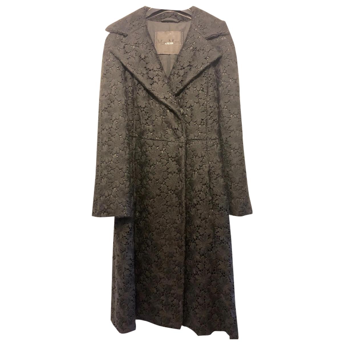 Max Mara Max Mara Atelier Black Wool coat for Women 40 FR