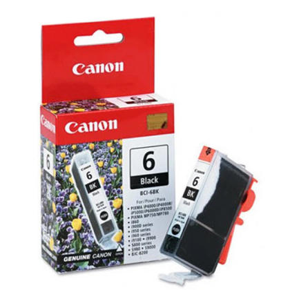 Canon BCI-6BK Original Black Ink Cartridge