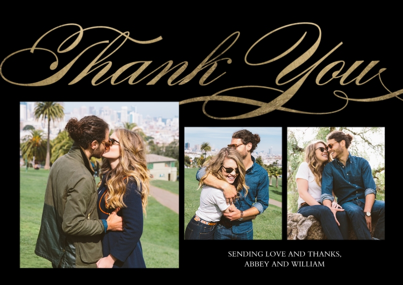 Thank You Cards Mail-for-Me Premium 5x7 Flat Card, Card & Stationery -Thank You Swirling by Tumbalina