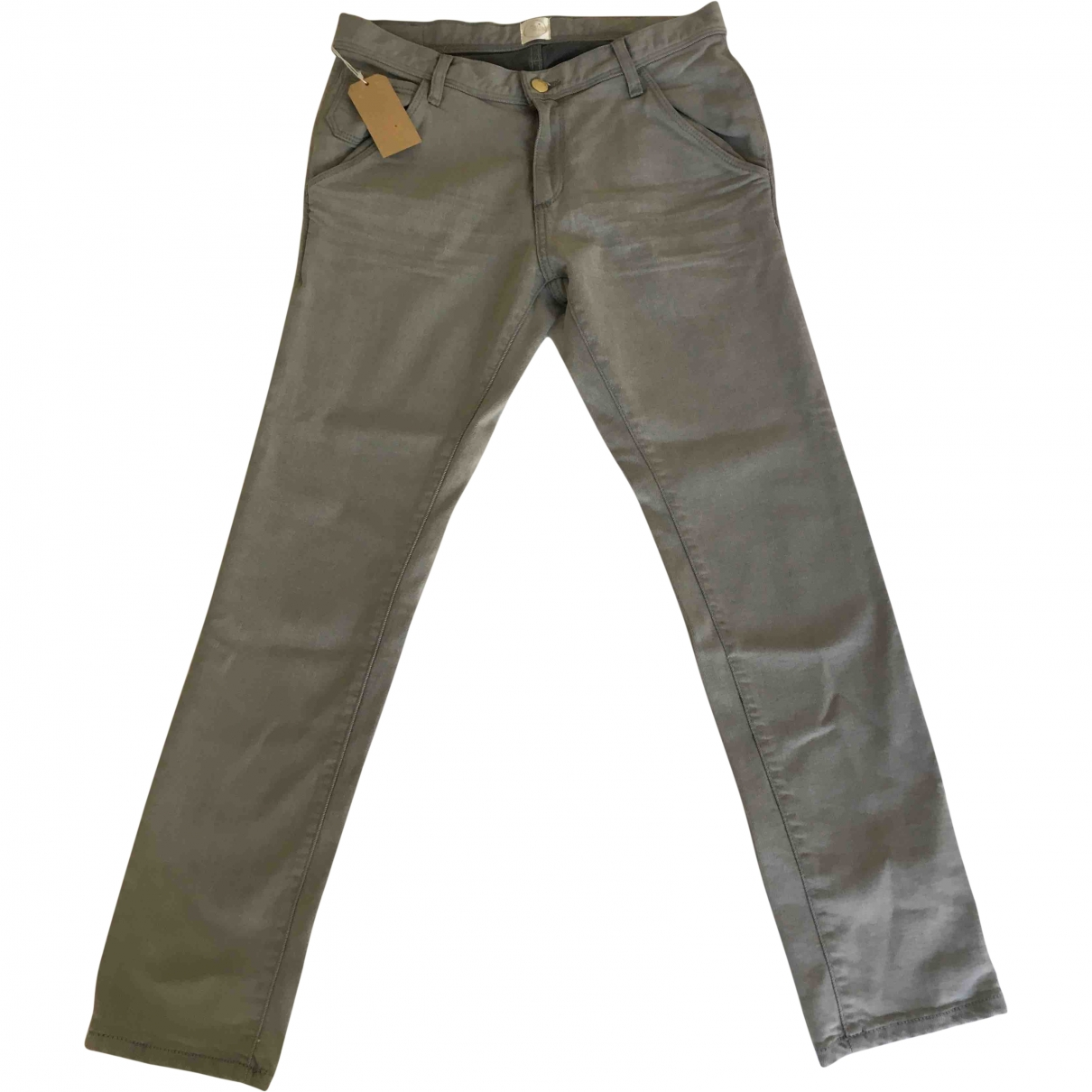Des Petits Hauts \N Grey Cotton Jeans for Women 25 US