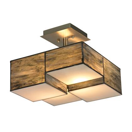 72071-2 Cubist Collection 2 Light Semi Flush in Brushed
