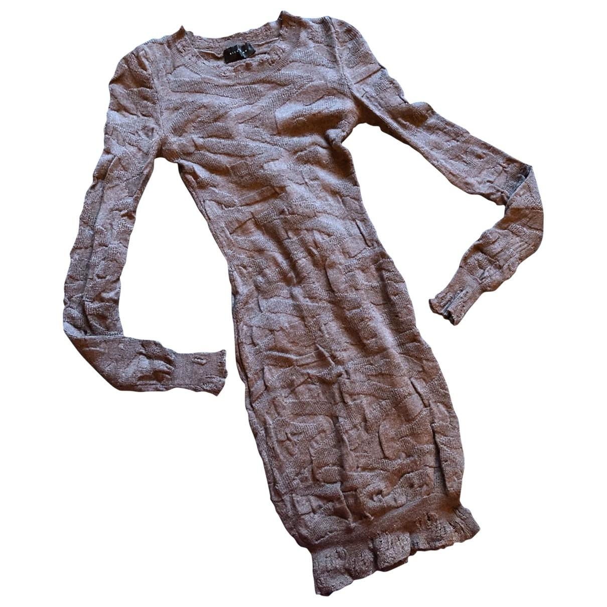 John Richmond \N Kleid in  Braun Wolle