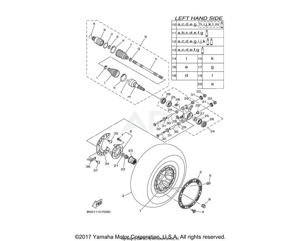 Yamaha OEM BN5-F4658-01-00 NUT, CAP