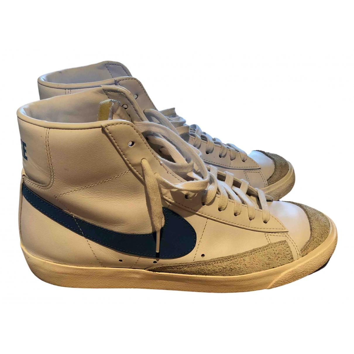 Nike - Baskets Blazer pour homme en cuir - blanc