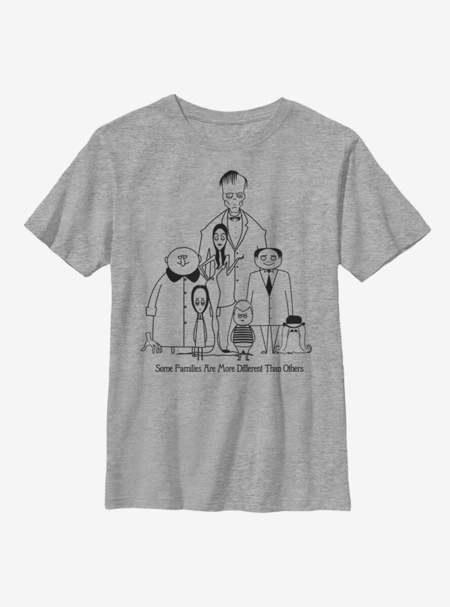 The Addams Family Classic Family Portrait Youth T-Shirt