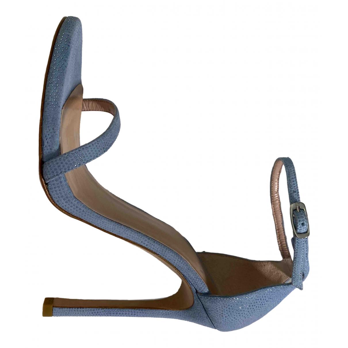 Stuart Weitzman \N Sandalen in  Blau Leder