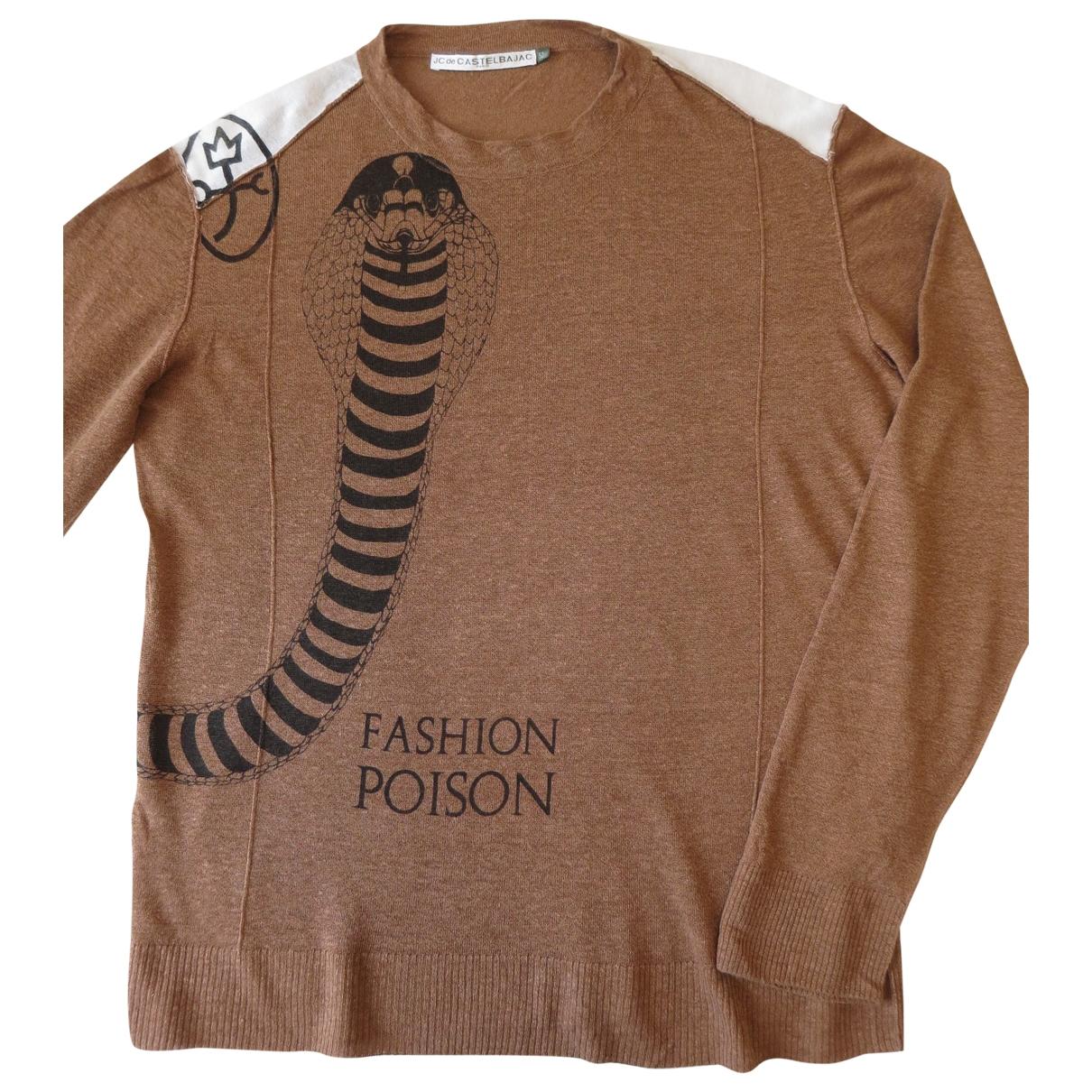 Jc De Castelbajac \N Brown Linen Knitwear & Sweatshirts for Men 52 FR